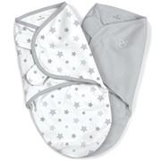 Конверт Summer Infant Конверт на липучке SwaddleMe®, размер S/M, (2 шт), серый/звездочки фото