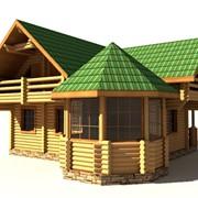 Дом из оцилиндрованного бревна ЛД-22 фото