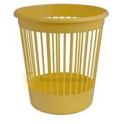 Корзина офисная Арника для бумаг 10 л., пластик, желтая фото