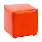 Банкетка 350х340х340 мм, цвет красный, в прихожую или магазин, BN-007B(оранж) фото