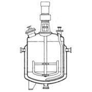 Реакторы цельносварные с рамными мешалками и трубами передавливания фото