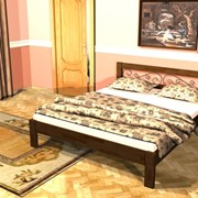 Кровать с элементами художественной ковки Гефест С1 фото