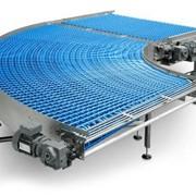 Поворотный конвейер с модульной лентой фото