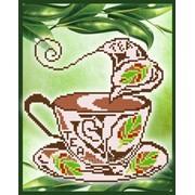 """Рисунок на ткани для вышивания бисером """"Ароматный чай"""" VKA4009 фото"""
