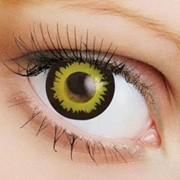 Линзы Crazy OkVision OKVision Crazy Black-yellow flame фото