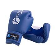 Перчатки боксерские детские, Rusco 4oz, к/з, синий фото