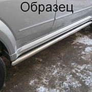 Пороги Chevrolet Niva 2003-2010 (вариант 3 труба 76 мм) фото