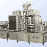 Автоматы линейного типа серии РХМ для расфасовки жидкостей в пластиковые стаканчики фото