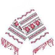 Свадебный рушник. Украинский рушник, традиционный, вышитый крестиком. фото