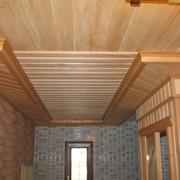Отделка деревянной вагонкой фото