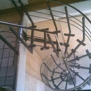 Монтаж лестниц, площадок обслуживания и ограждения из нержавеющей стали фото