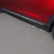 Пороги Mazda CX-9 2017-наст.время (с площадкой нерж. лист 42,4 мм) фото