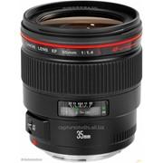 Аренда объектива 35mm Canon L f/1.4 от 720 тг./час фото
