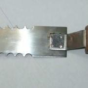 Нож пасечный из нержавеющей стали зубчатый фото