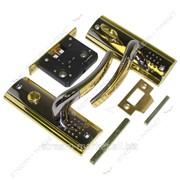 Защелка межкомнатная (ручка планка поворотник) ФАМОС ВК 5030-L23 BN/GP (черный-золото) №328302 фото