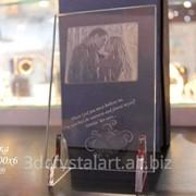 Лазерная гравировка внутри стекла, Киев фото