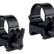 Кольца быстросъемные - рычаг QRW на Weaver 26 мм низкие матовые фото