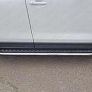 Пороги Mazda CX-5 2017-наст. время (с площадкой 75х42 мм) фото