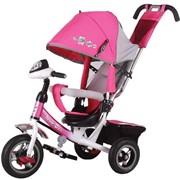 Велосипед детский трехколесный с надувными колесами Trike Flower Race JF7 R - фото