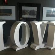 Объемные буквы из пенопласта фото