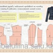Плакат Конструирование и моделирование плечевых изделий с втачным рукавом В.21 фото