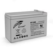 Аккумуляторная батарея AGM RITAR RT1280, Gray Case, 12V 8.0Ah ( 151 х 65 х 94 (100) ) Q10 фото