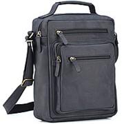 """Кожаная сумка """"Гектор"""" (чёрный крейзи) фото"""
