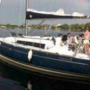 Прогулки на яхте по Днепру, Киев, мастер-класс яхтинга, аренда яхты фото