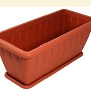 Ящик для растений ФЕЛИЦИЯ 40х18,5см с поддоном цветной /9 фото
