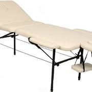 """Металлический переносной массажный стол KORADO. Складной массажный стол Korado. Раскладная кушетка для косметологии и массажа """"Корадо"""". Металлическая переносная массажная кушетка. Стол для массажа переносной. Чемодан-стол фото"""