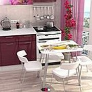 Стол обеденный с фотопечатью Мед на металлокаркасе фото