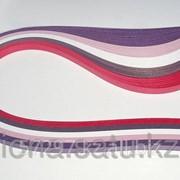Бумага набор №14 120гр., 330мм., 100 полос, 5 цветов фиолетово-красный фото