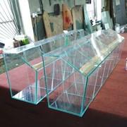 Резка и обработка стекла по нужным размерам и форме фото