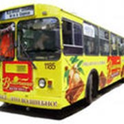 Размещение реклама на бортах автобусов, трамваев, троллейбусов фото