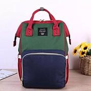 Сумка-рюкзак для мамы (Mummy Bag)/ Синий с зеленым фото