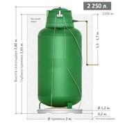 Газгольдер подземный вертикальный 5000л фото