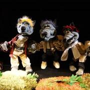Показ спектаклей кукольных театров, Кукольный театр на празднике фото