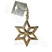 Декор Звезда дерев. коричневая d14cм фото