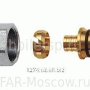 Концовка для пластиковых труб 20х2 с хромированной накидной гайкой М24х19, артикул FC 6052 80214 фото