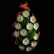 Венок ритуальный ромашка 90см 9066-016-380 фото