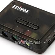 Коммутатор KVM Edimax EK-PAK2 с поддержкой Audio/Mic на 2 ПК с комплектом кабелей, код 98469 фото