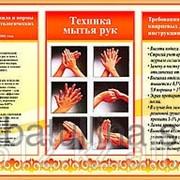 Стенд Техника мытья рук фото