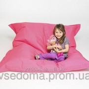 Малиновое кресло мешок подушка 120*140 см из микро-рогожки, кресло-мат фото