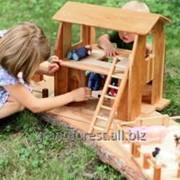Игровой Домик-Ферма, домик деревянный для детей фото