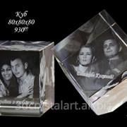 Изготовление эксклюзивных подарков и сувениров из стекла с лазерной гравировкой внутри фото