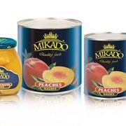 Консервированные персики Mikado фото