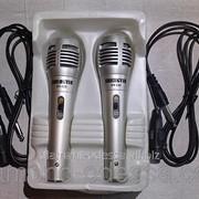 Караоке микрофон проводной двойной SY-123 фото