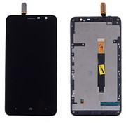 Дисплей для Nokia 1320 в сборе с тачскрином на рамке (Black) фото