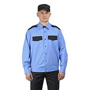"""Рубашка мужская """"Охрана"""" длинный рукав на резинке. Размер 42 Рост 170 фото"""