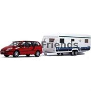 Набор 1:43 Автомобиль Peugeot 807 с прицепом Caravan фото